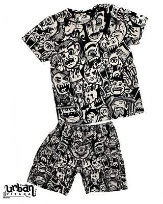 Ola Monsters T-shirt and shorts Combo