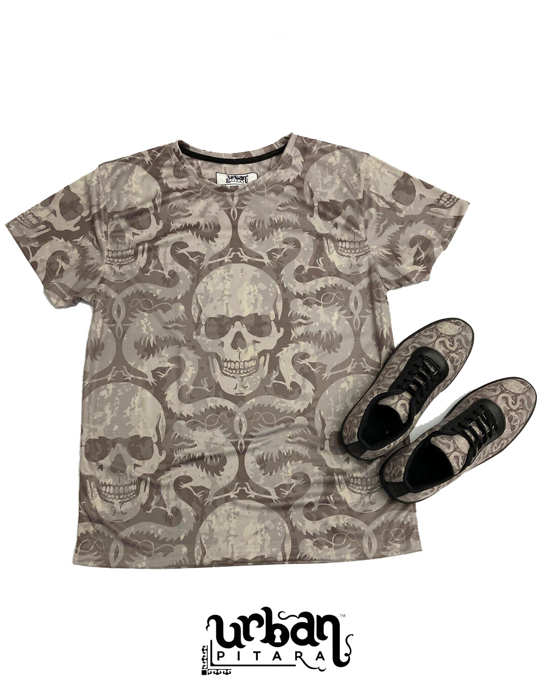 Venom Skull t-shirt and shoes Combo