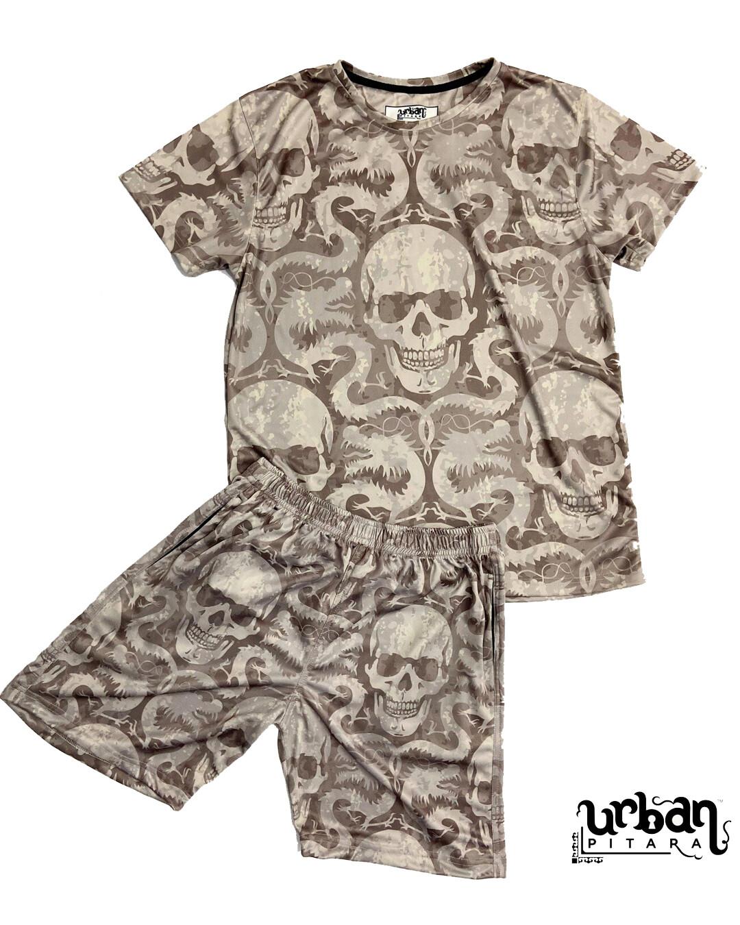 Venom Skull t-shirt and shorts Combo