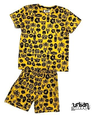 Robotic T-shirt and shorts Combo