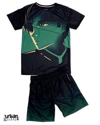 Emerald t-shirt and shorts Combo