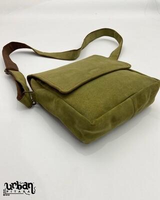 Genuine Suede Leather Olive Side Bag (LIMITED EDITION)