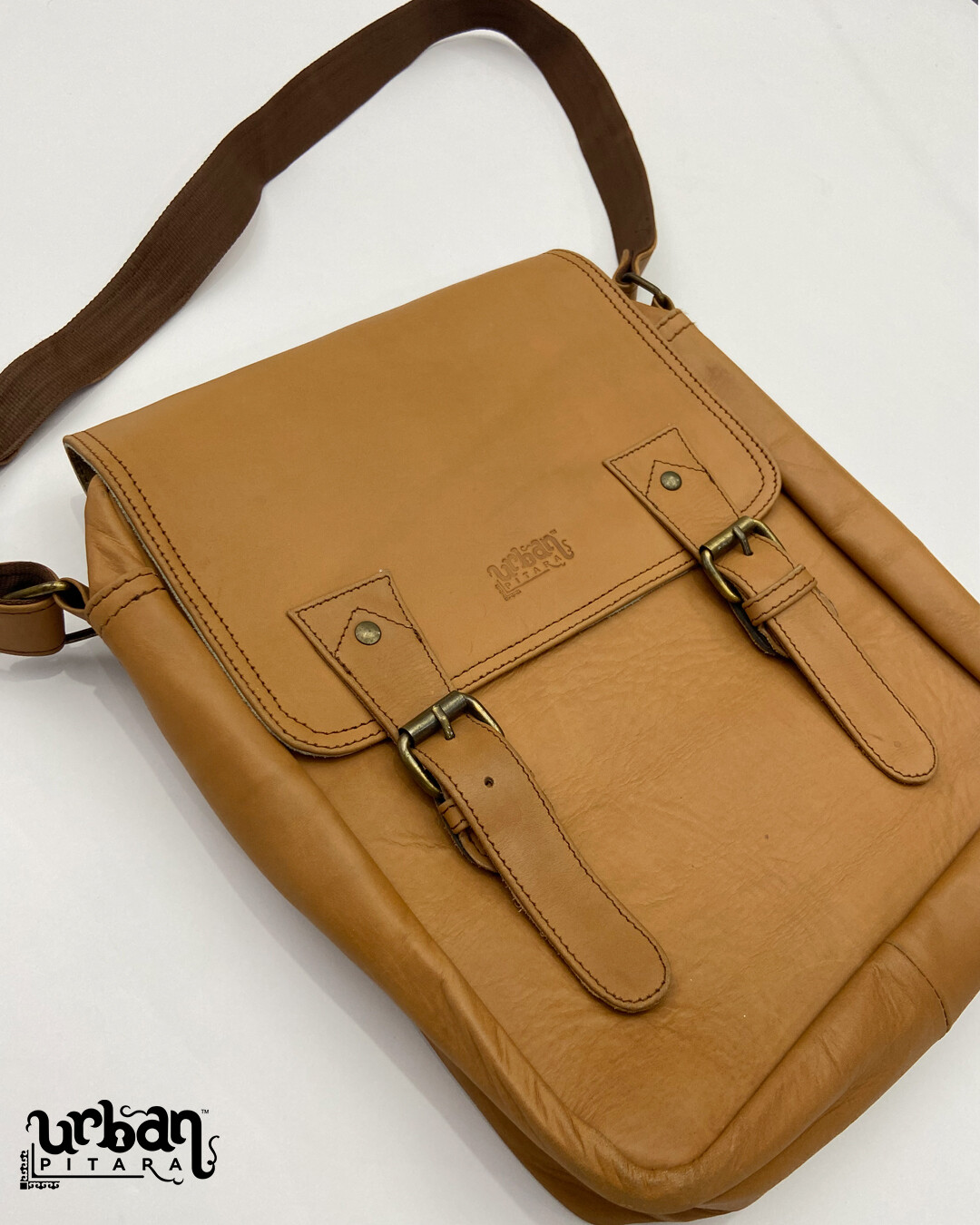 Genuine Leather Tan Brown Side Bag (LIMITED EDITION)