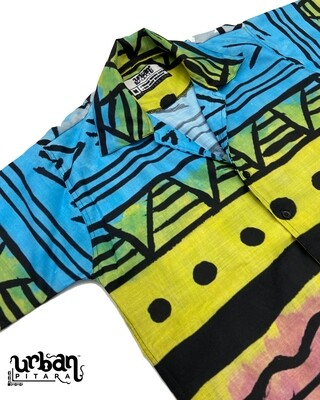 Painted Tribal Buttoned Shirt