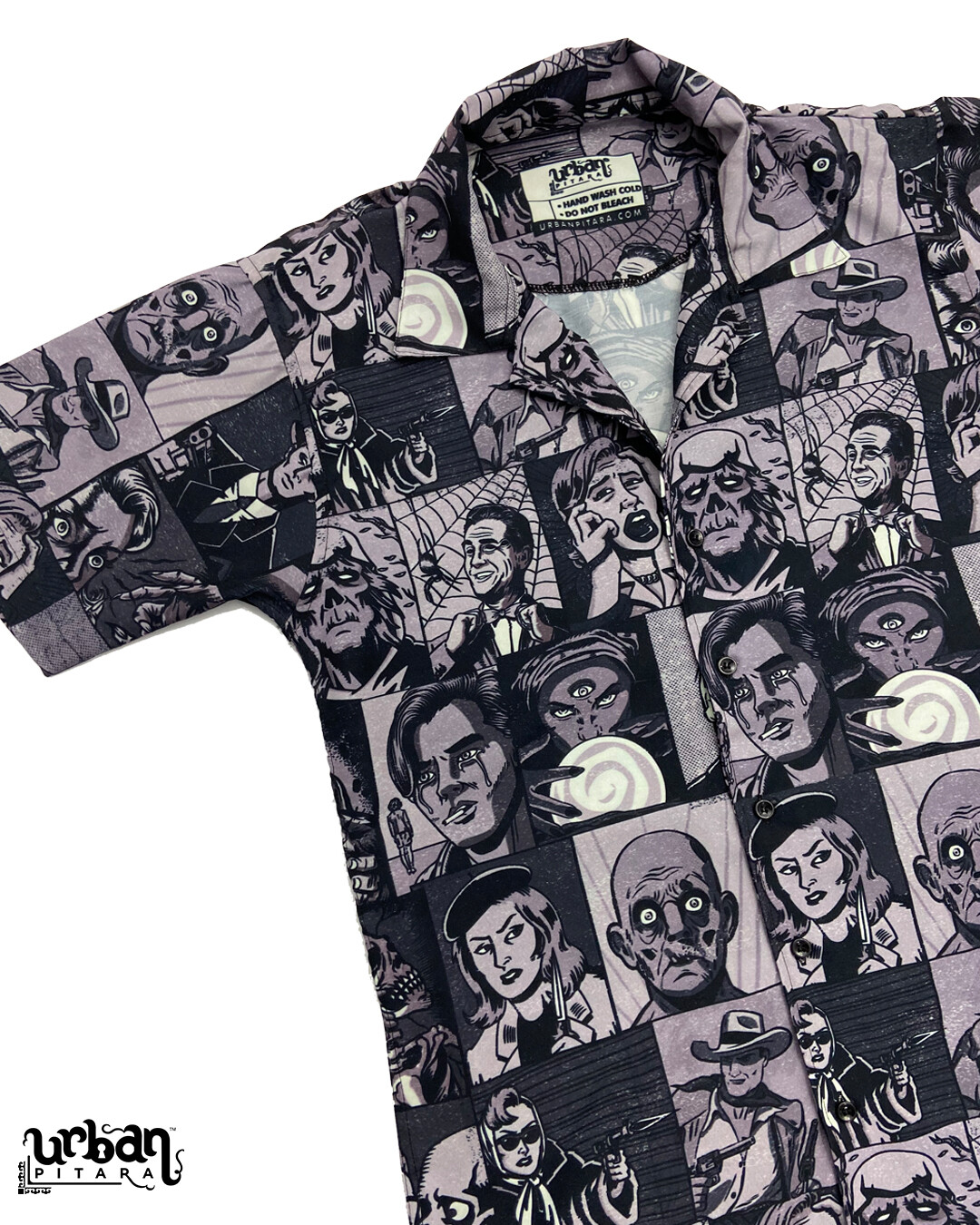Killer Comics Monochrome Buttoned Shirt