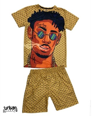 HipHop Blues T-shirt and shorts Combo