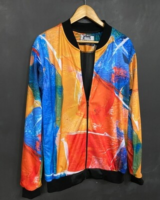 Abstract AllOver Print Bomber Jacket