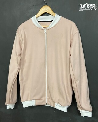 Peaches Solid Print Bomber Jacket