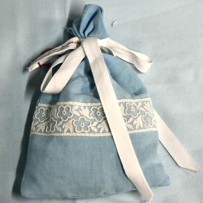Lavendelsäckchen Hellblau/Weiss