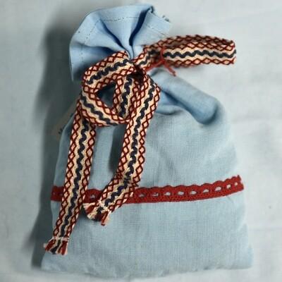 Lavendelsäckchen Hellblau/Rot