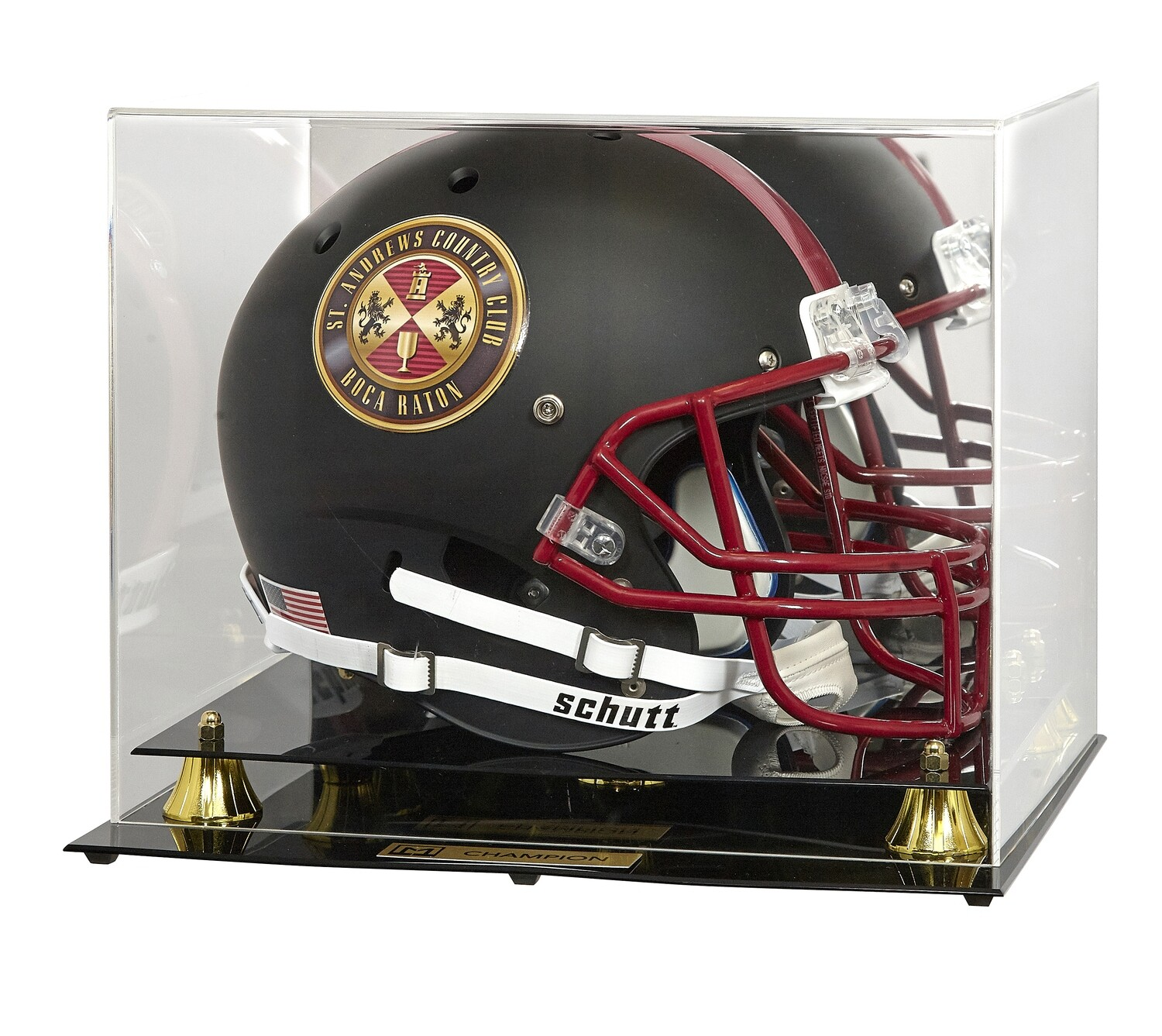 Football Helmet with Case - Full Size Replica