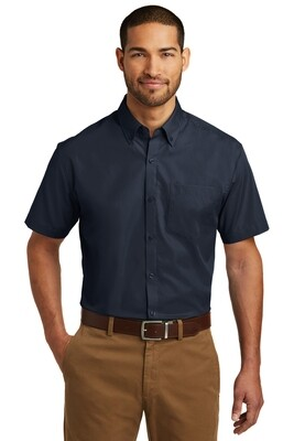 Men's Short Sleeve Carefree Poplin Shirt