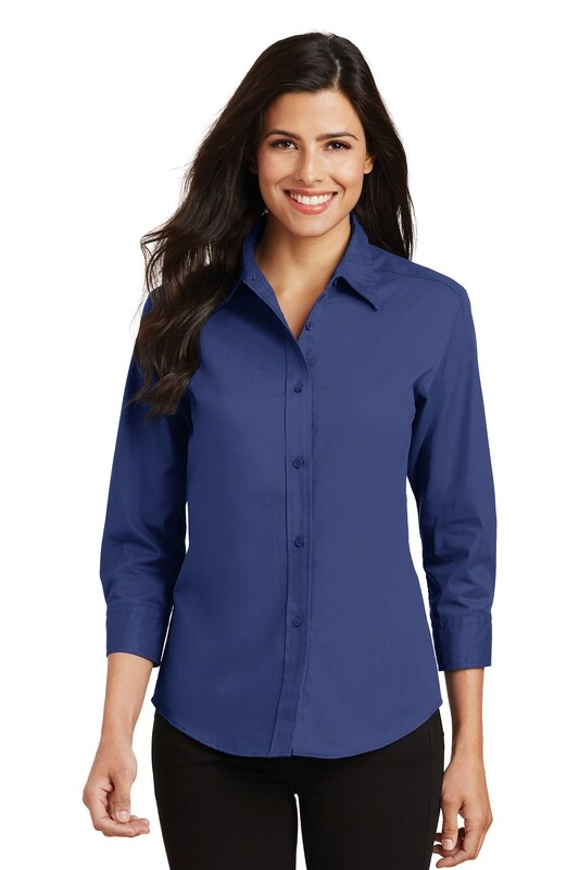 Ladies 3/4 Sleeve Easy Care Shirt