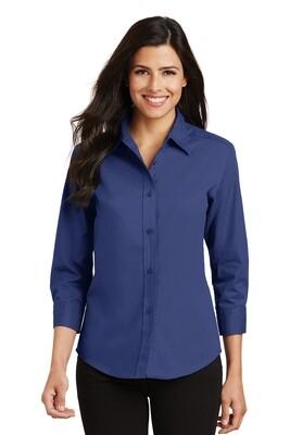 Ladies 3/4 Sleeve Easy Care Shirt