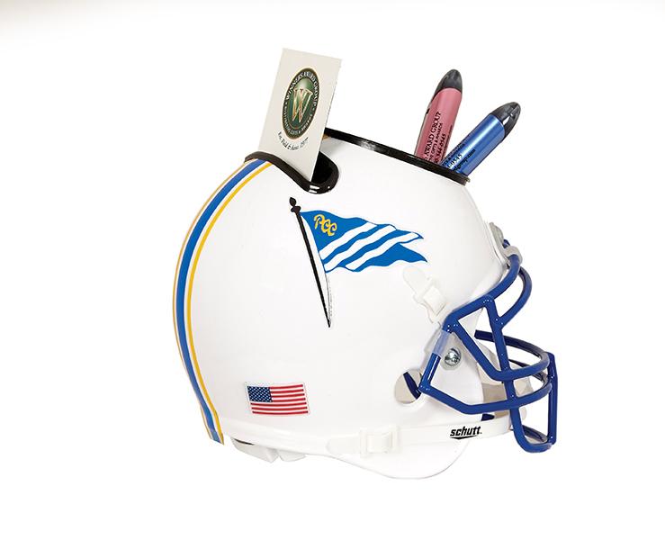 Football Helmet Desk Caddy - Small Size Replica