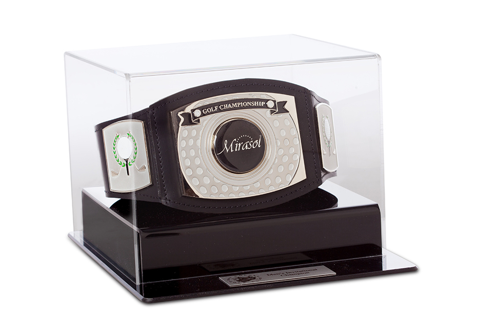 Mini Championship Golf Belt with case