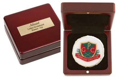 Medallion in Wood box