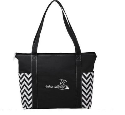 Geometric Zippered tote