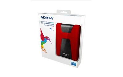 DISCO DURO EXTERNO ADATA 2TB HD650 USB3.1 2.5P ROJO AHD650 2TU31 CRD