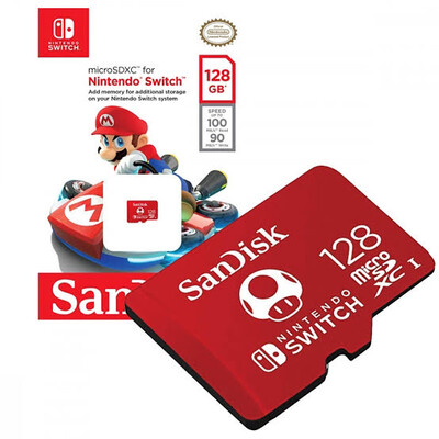 MEMORIA MICRO SD SANDISK NINTENDO SWITCH 128GB  UHS I CL10 U3 SDSQXAO 128G GNCZN