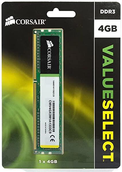 MEMORIA RAM CORSAIR DIMM DDR3 1333MHZ 4GB 1X240 CMV4GX3M1A1333C9