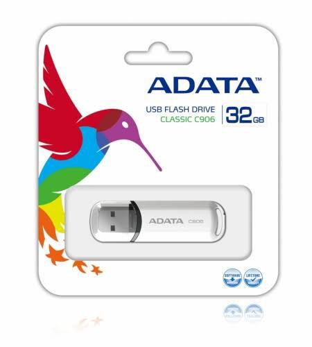 MEMORIA USB ADATA 32GB 2.0 C906 BLANCO AC906 32G RWH