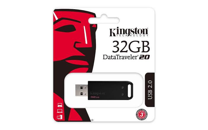 MEMORIA USB KINGSTON 32GB 2.0 DT20 NEGRO DT20 32GB