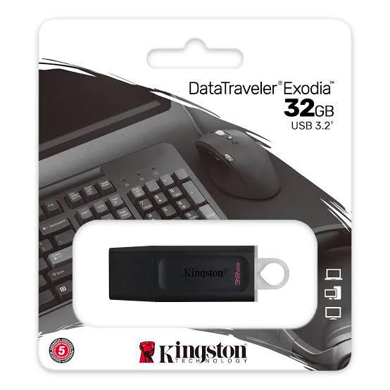 MEMORIA USB KINGSTON 32GB 3.2  GEN 1 DATATRAVELER EXODIA DTX 32GB