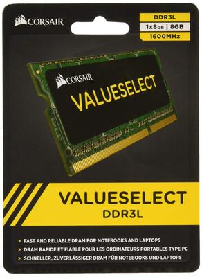 MEMORIA RAM CORSAIR SODIMM DDR3 1600MHZ 8GB 1X204 CMSO8GX3M1A1600C11