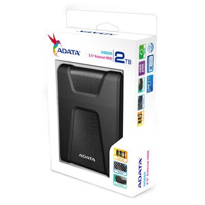 DISCO DURO EXTERNO ADATA 2TB HD650 USB3.1 2.5P NEGRO AHD650 2TU31 CBK