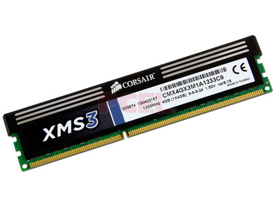 MEMORIA RAM CORSAIR DIMM DDR3 1333MHZ 4GB 1X240 CMX4GX3M1A1333C9