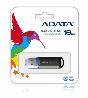 MEMORIA USB ADATA 16GB 2.0 C906 NEGRO AC906 16G RBK