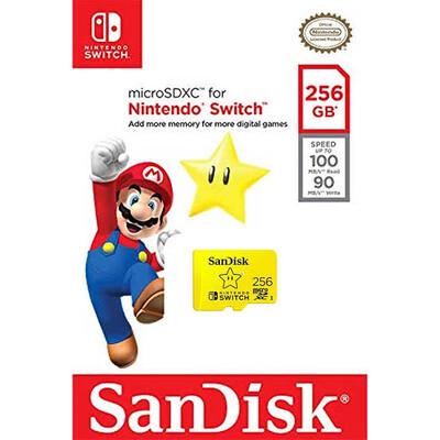 MEMORIA MICRO SDXC SANDISK NINTENDO SWITCH 256GB U3 SDSQXAO 256G GNCZN