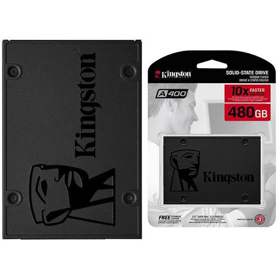 SSD INTERNO KINGSTON SA400 SATA 480 GB SA400S37 480G