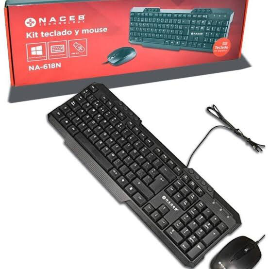 KIT TECLADO Y MOUSE NACEB