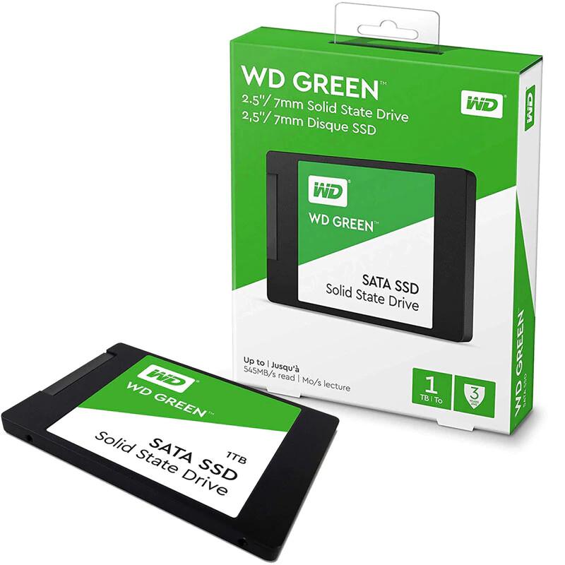 SSD INTERNO WESTERN DIGITAL GREEN 1TB SATA III 2.5P WDS100T2G0A