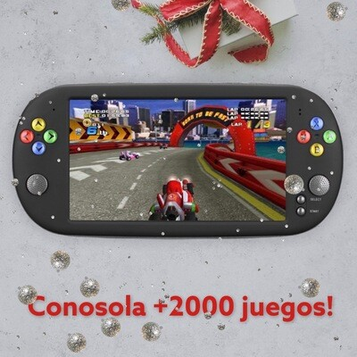 X16 Consola De Videojuegos Para Juegos De Mano Con Doble