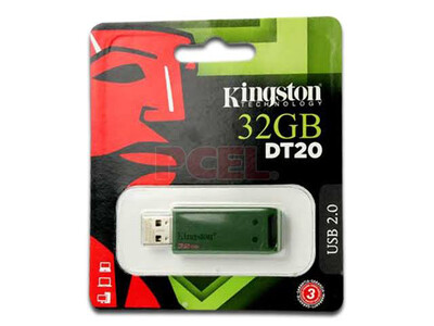 Memoria USB 32GB Kingston DT20 color verde