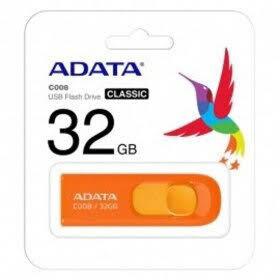 MEMORIA USB ADATA 32 GB 2.0 RETRACTIL C008 NARANJA AC008 32G ROR