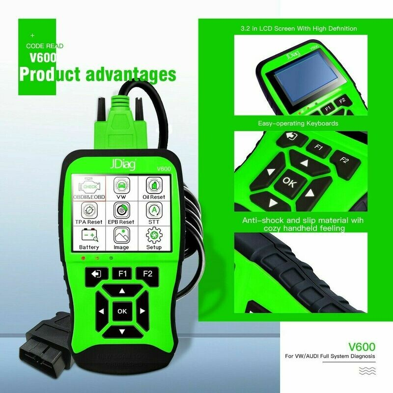 Car Full System Diagnosis Tool JDiag V600 VAG SCANNER