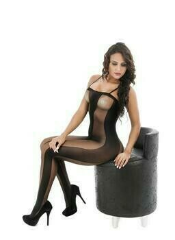 Womens Sexy Striped Bodystocking Lingerie