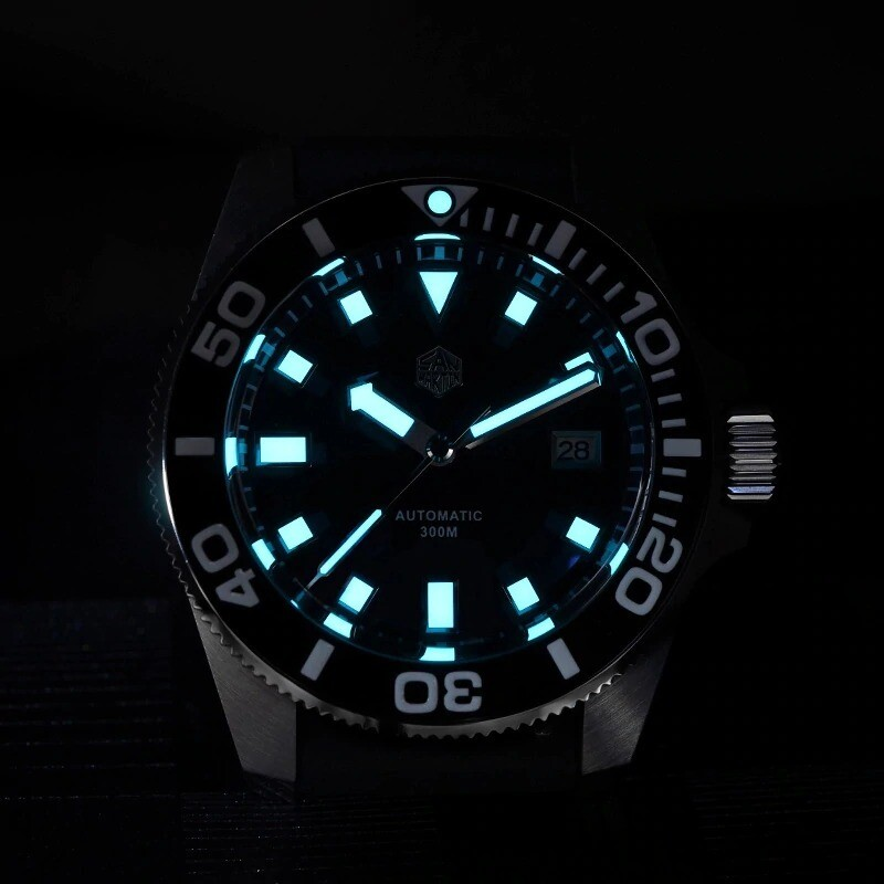 Divers Mechanical Automatic 30ATM Watch SapphireCrystal