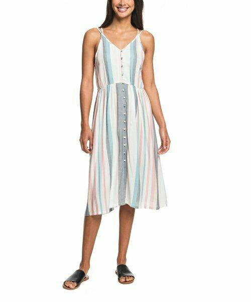Roxy, Платье без рукавов с пуговицами в белоснежную полоску My Way