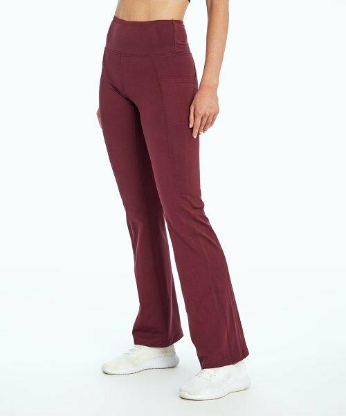 Bally Total Fitness, Узкие брюки для йоги с карманами и высокой посадкой Fig 32 ''