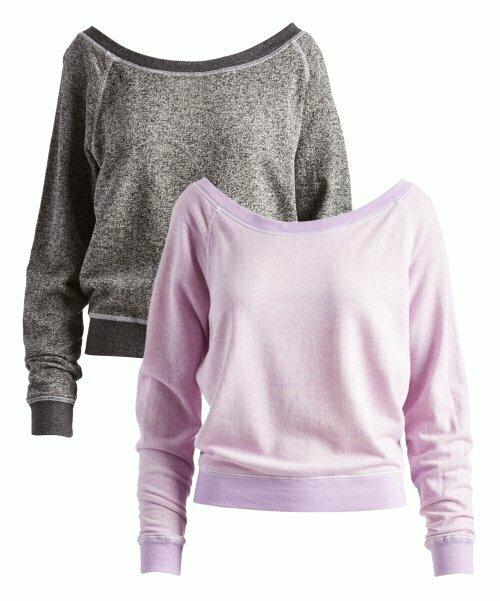 Pima Apparel, Фиолетовый и серый пуловер