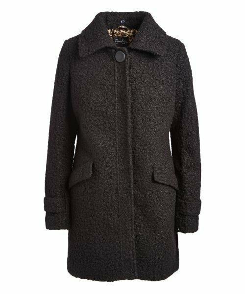 Пальто с воротником из искуственного меха, Jessica Simpson Collection