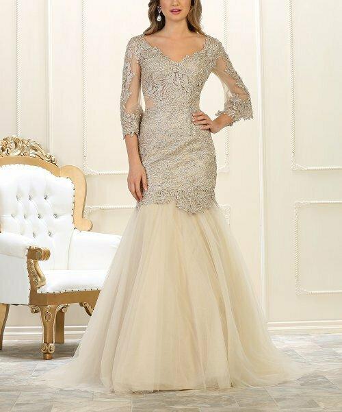 Платье золотого цвета с V-образным вырезом на спине, Royal Queen