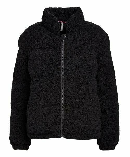 Черная стеганая куртка-пуховик Teddy, Pink Platinum