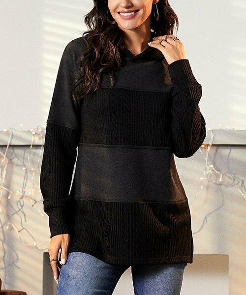 Черный худи-пуловер , Suzanne Betro Weekend