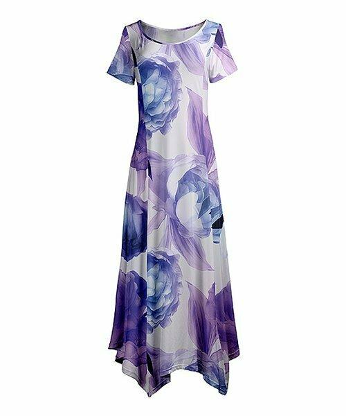 Пурпурное платье макси с цветочным рисунком, Lily